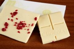 Tableta de chocolate, Pureza de Fray León, con yogur y franbuesas